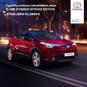 Toyota C-HR, rohkea, erilainen, tyylikäs, taloudellinen, kertakaikkisen upea auto! Tässä vain muutama asiakaskommentti. Nyt sinunkin kannattaa tulla rakastumaan autoiluun uudestaan, sillä Toyota C-HRn Edition kampanjamallit ovat nyt tilattavissa. Asiakasedut jopa yli 2900€, siis kipin kapin Jenille <3